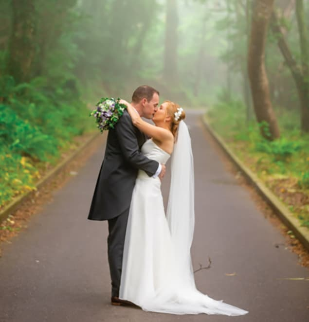 Our wedding day:  Doing what made us happy