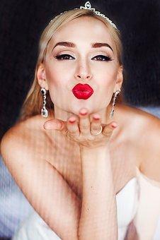 Luscious wedding lips